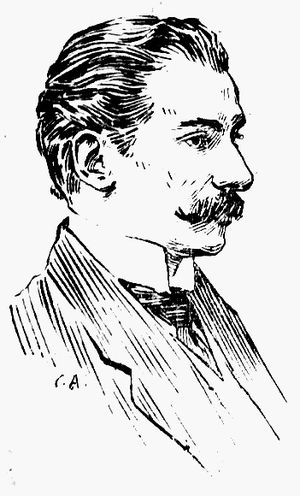Al. T. Stamatiad - Stamatiad in an etching by Constantin Artachino, first published in 1920