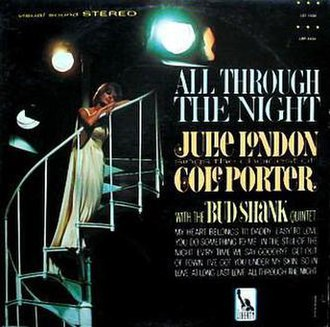 All Through the Night: Julie London Sings the Choicest of Cole Porter - Image: All Through The Night Julie London