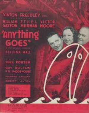 Anything Goes - Sheet music from original Broadway production Anything Goes