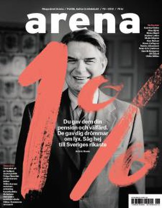 Arena (Swedish magazine) - Cover of issue 6, 2012 focusing on income inequality in Sweden