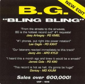 Bling Bling (song) - Image: B.G. Bling Bling