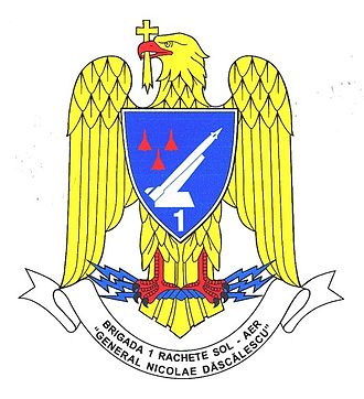 1st Surface to Air Missiles Brigade (Romania) - Official emblem of the 1st SAM Brigade