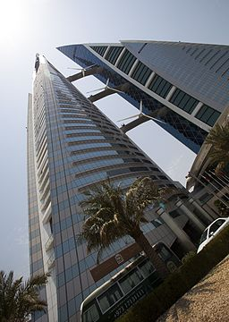 Bahrain World Trade Center from below.jpg