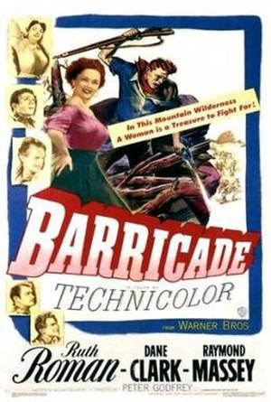 Barricade (1950 film) - Theatrical release poster