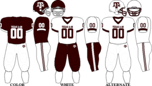 2009 Texas A&M Aggies football team - Image: Big 12 Uniform TAMU 2009