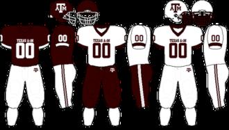2009 Texas A&M Aggies football team - Image: Big 12 Uniform TAMU 2009