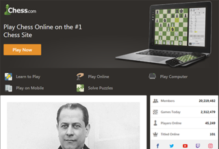 Chess.com online chess playing site