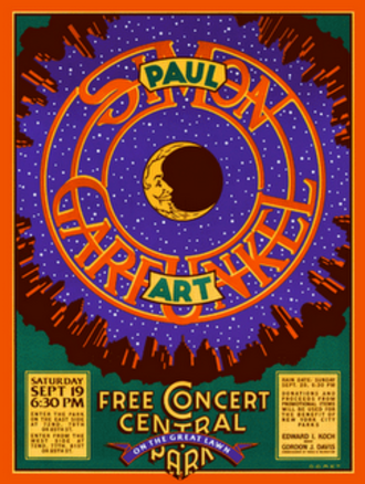 The Concert in Central Park - Michael Doret poster for the concert