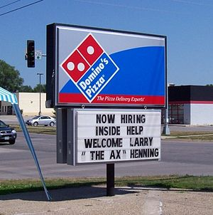 Larry Hennig - A Dominos Pizza in Newton features Larry Hennig on July 15, 2006.