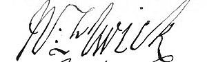 Nathaniel Elwick - Image: Elwick sign