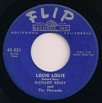 Louie Louie - Image: Flip 321 Label