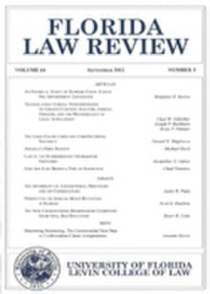 Florida Law Review - Image: Florida Law Review (cover)