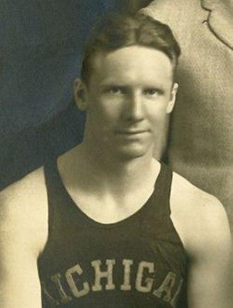 Frank Harrigan - Harrigan cropped from 1926-27 Michigan team portrait