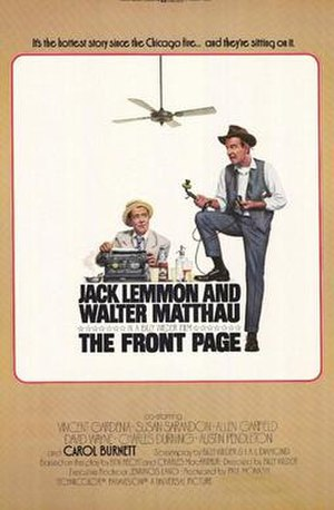 The Front Page (1974 film) - Original poster by Bill Gold