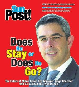 Miami SunPost - March 15, 2012 cover of The Miami SunPost