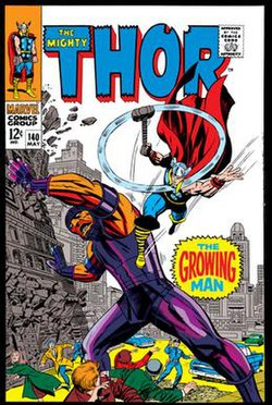 Growing Man on the cover of Thor.jpg