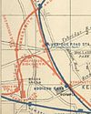 1889 map showing the L&SWR junction with the WLL