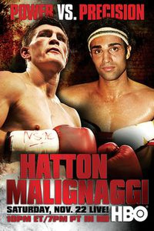 Ricky Hatton vs. Paulie Malignaggi - Image: Hatton vs. Malignaggi poster