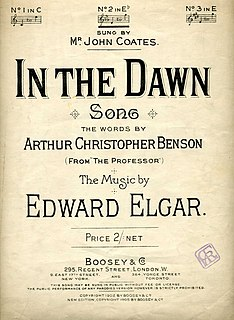 <i>In the Dawn</i> song composed by Edward Elgar