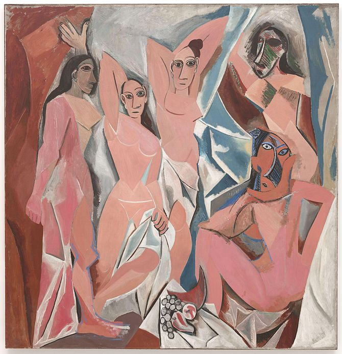 Les Demoiselles d'Avignon. Oil on Canvas (244 ...