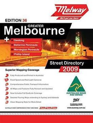 Melway - The front cover of the Melway 36th (2009) edition.