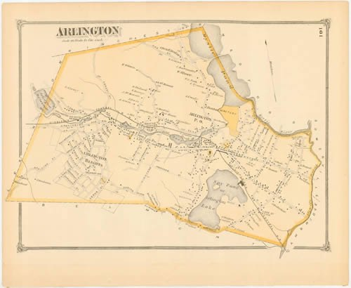 Middlesex county 1875 - arlington - p101 500