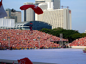 Singapore National Day Parade - Member of the SAF parachute team, NDP 2005