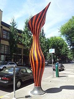 <i>Nepenthes</i> (sculpture) Series of four sculptures by artist Dan Corson, installed in 2013 along Northwest Davis Street in the Old Town Chinatown neighborhood of Portland, Oregon