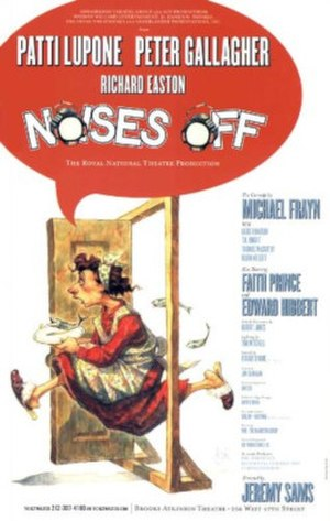 Noises Off - Poster for the 2001 Broadway revival