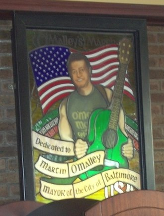 Martin O'Malley - Stained glass window of Mayor O'Malley