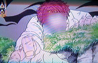 Censorship in Thailand - Censored character with bloodied face from One Piece on Thai TV