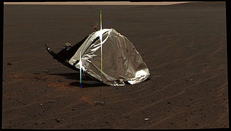 Mars Exploration Rover - Opportunitys discarded heat shield