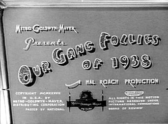 Our Gang Follies of 1938 - Image: Our Gang Follies of 1938 title