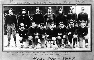 Pittsburgh Lyceum (American football) - 1924 Pittsburgh Lyceum Football Team. Art Rooney is located on the bottom row, far right.