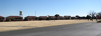Fort Bliss - Ruhlen's 1893 buildings (currently offices) still stand at Fort Bliss, as do the officers' quarters.