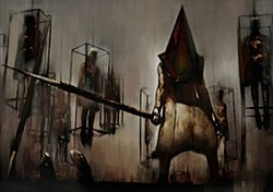 silent hill game pyramid head scene