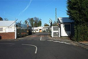RAF Eastcote - Entrance to the site from the intersection of Lime Grove and Kent Gardens