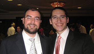 Gateways (organization) - Rabbi Mordechai Suchard, left, with a guest at the Gateways Shavuot Retreat in 2008