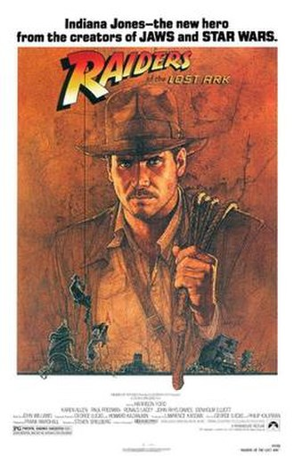 Herbert Johnson (hatters) -  Harrison Ford sporting his Herbert Johnson felt hat in Steven Spielberg's Raiders of the Lost Ark, in a poster by Richard Amsel