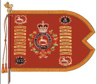 The Royal Canadian Dragoons - The guidon of The Royal Canadian Dragoons.