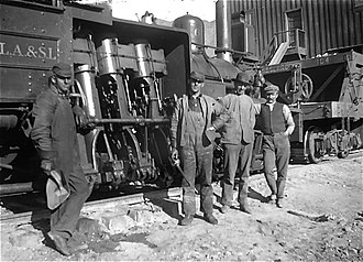 Los Angeles and Salt Lake Railroad - Image: SPLAS Lworkers