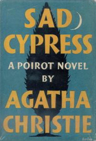 Sad Cypress - Dust-jacket illustration of the first UK edition