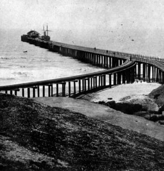 Santa Monica Pier - An early Santa Monica Pier, 1877.