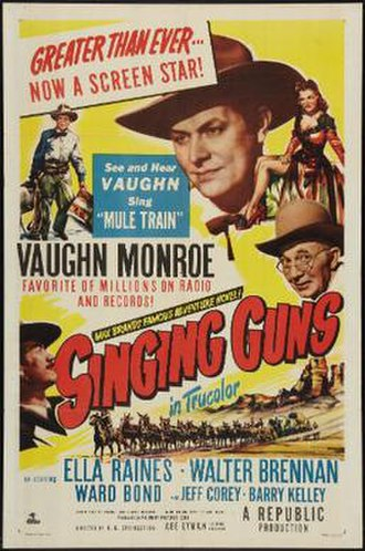 Singing Guns - Theatrical release poster