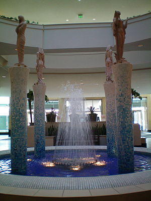 Somerset Collection - Somerset Collection includes many relaxing water displays throughout the mall.