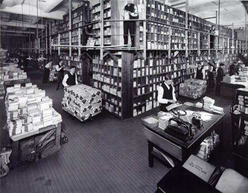Street & Smith book department in 1906