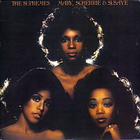 Mary, Scherrie & Susaye (1976) was the final LP for The Supremes. Clockwise from top: Mary Wilson, Scherrie Payne, and Susaye Greene.