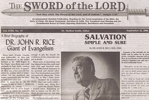 John R. Rice - Sword of the Lord Magazine