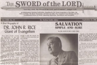 The Sword of the Lord - Sword of the Lord newspaper
