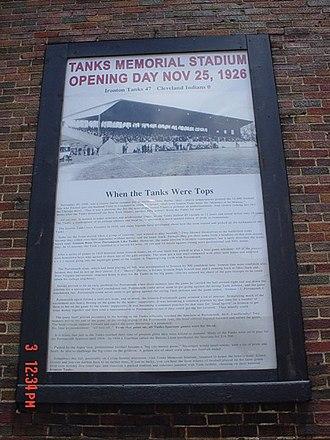Ironton Tanks - Image: Tank stadium open